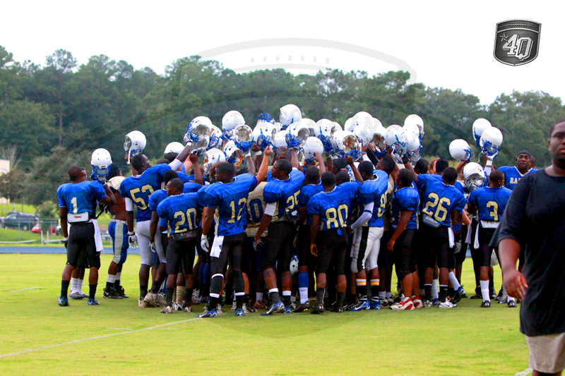 The Huddle before the Scrimmage.